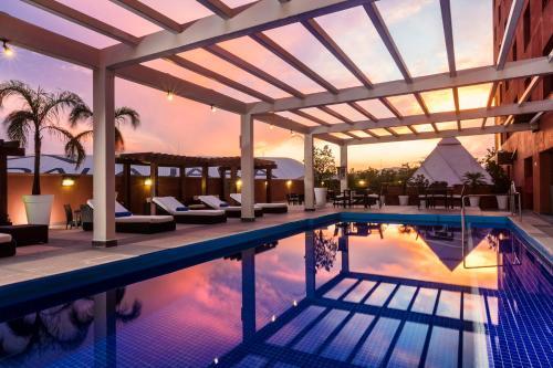 The swimming pool at or near Hilton Guadalajara