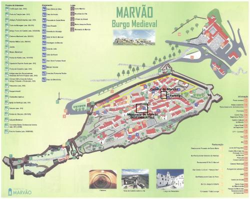 A bird's-eye view of Casinha de Marvao
