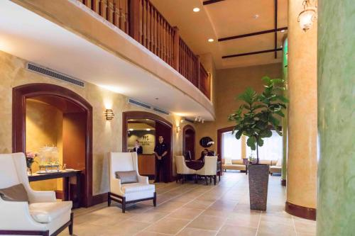 The lobby or reception area at The Mutiny Luxury Suites Hotel