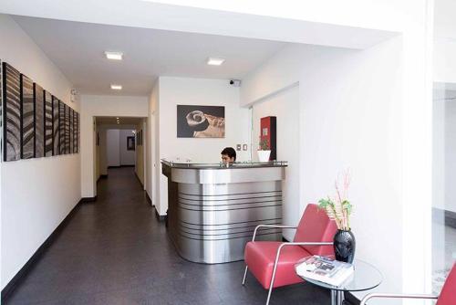 The lobby or reception area at Departamento Larcomar