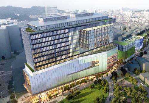 A bird's-eye view of Holiday Inn Express Seoul Hongdae
