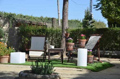 Jardín al aire libre en La Caseria de Tito