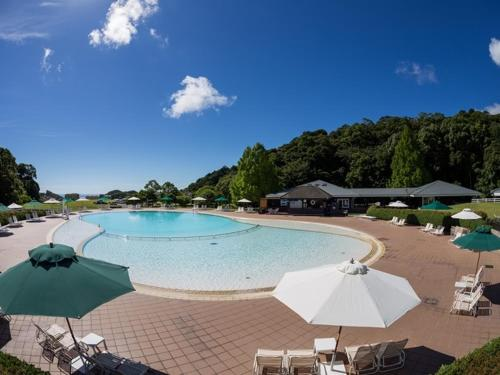The swimming pool at or near Hotel Blueberry Hill Katsuura