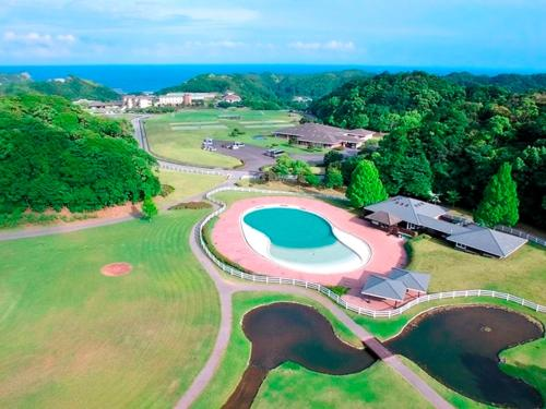 A bird's-eye view of Hotel Blueberry Hill Katsuura