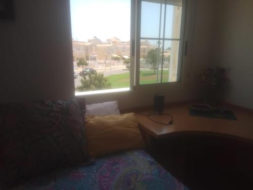 Cama o camas de una habitación en Casa Frente Al Lago Rosa