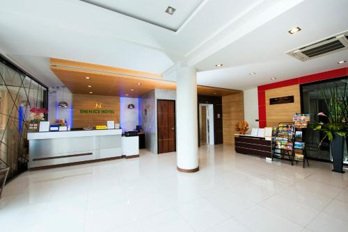 The lobby or reception area at The Nice Krabi Hotel