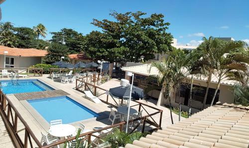 Вид на бассейн в Hotel Pousada do Sol или окрестностях