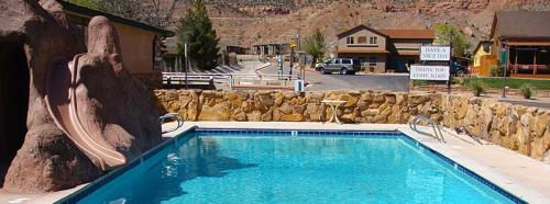The swimming pool at or near Zion Park Motel