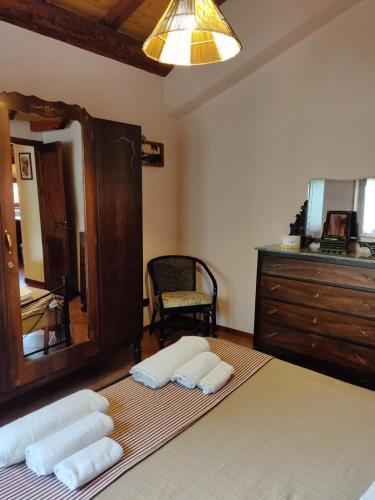 Letto o letti in una camera di Mount Etna Chalet