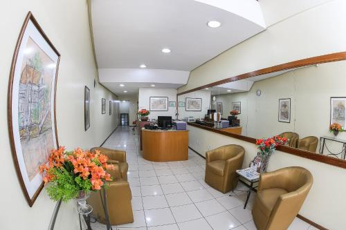 The lobby or reception area at Hotel Express Confort