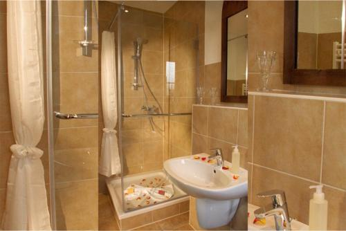 Ванная комната в BinzHotel Landhaus Waechter