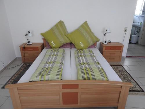 Ein Bett oder Betten in einem Zimmer der Unterkunft Triebenerhof