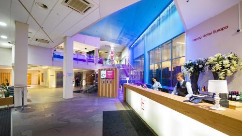 The lobby or reception area at Hestia Hotel Europa