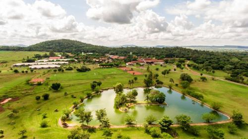 Uma vista aérea de Zagaia Eco Resort