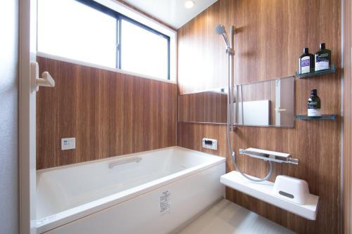 A bathroom at Ananda Chillage Yakushima