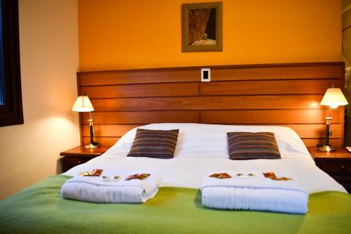 A bed or beds in a room at Rancho Grande