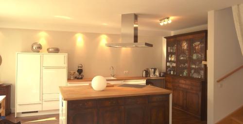 Kuchyň nebo kuchyňský kout v ubytování Gästehaus im Herzen von Hittfeld