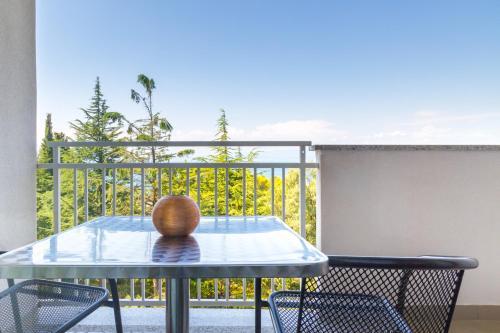 A balcony or terrace at Hotel Malin