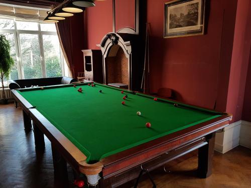 A billiards table at Château Lambert Near Airport