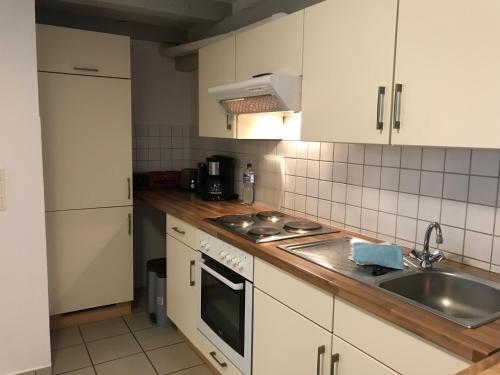 Küche/Küchenzeile in der Unterkunft Ferienwohnung Rosenstrasse