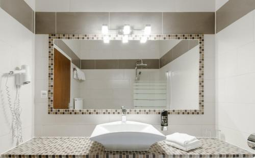 A bathroom at Pension Hoogerland
