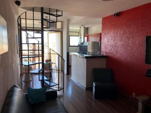 The lobby or reception area at Penthouse duplex with Private Pool and View in Copacabana