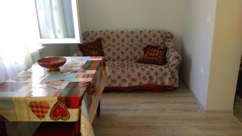 A seating area at Anastasia