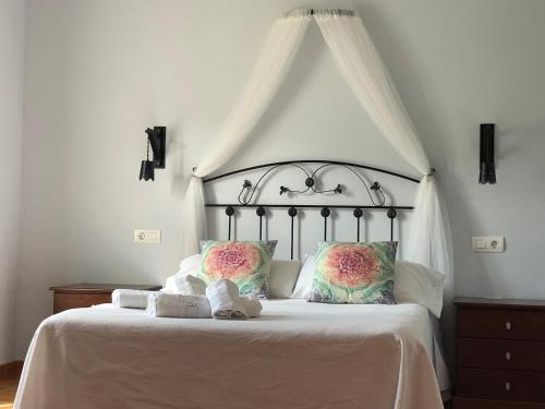 Cama o camas de una habitación en Hotel San Francisco Rural