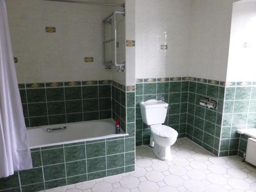 A bathroom at Corbett Court