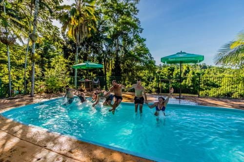 The swimming pool at or near Jackaroo Treehouse Mission Beach