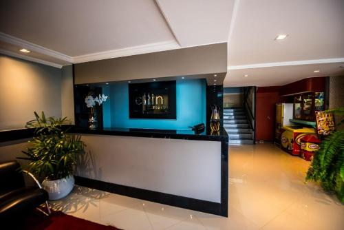 The lobby or reception area at Cllin Premium Plaza