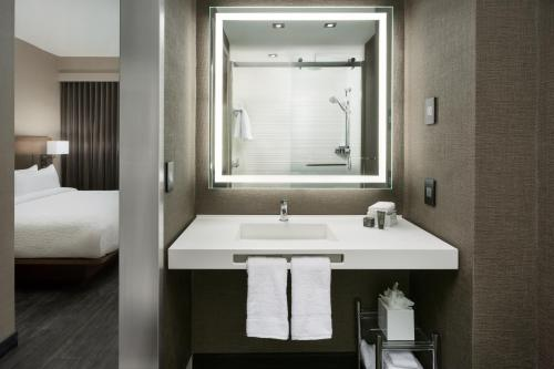 A bathroom at AC Hotel by Marriott New York Times Square