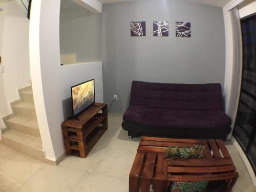 A seating area at Moderna casa 3 recámaras cerca Zona Industrial