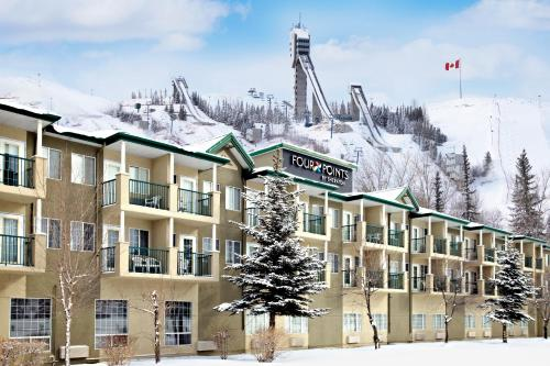 Four Points by Sheraton Calgary West during the winter