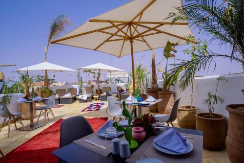 Restaurant ou autre lieu de restauration dans l'établissement Riad Jemaa El Fna & Spa