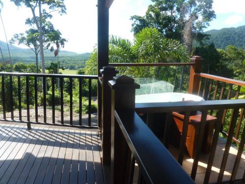 A balcony or terrace at Daintree Holiday Homes - Yurara