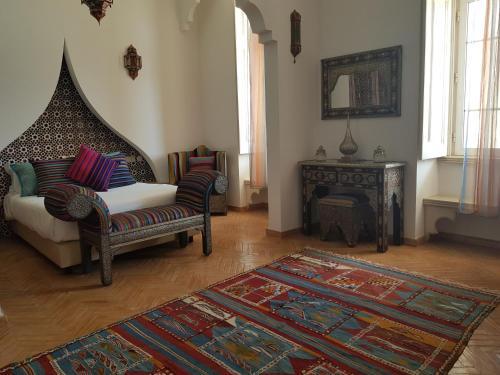 A seating area at Al-Buhera Palace