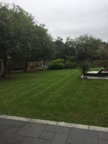 A garden outside The Old Vicarage Lodge