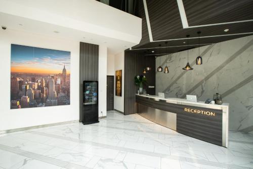 The lobby or reception area at Juno Hotel Jakarta