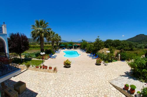 A view of the pool at Nikos Studios and Apartments or nearby