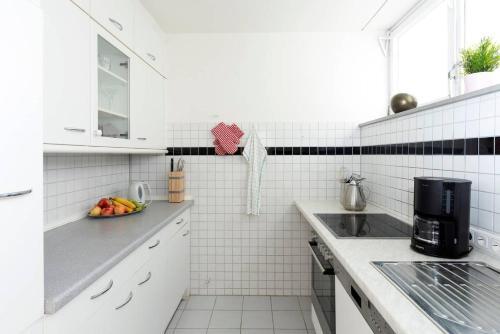 Küche/Küchenzeile in der Unterkunft Abendrot Appartement