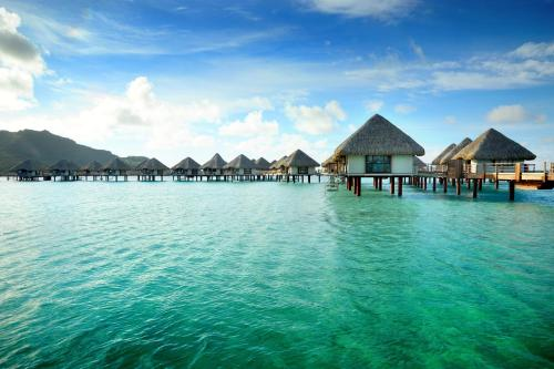 The swimming pool at or near Le Meridien Bora Bora