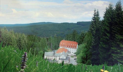 Blick auf Hotel Rodebachmühle aus der Vogelperspektive