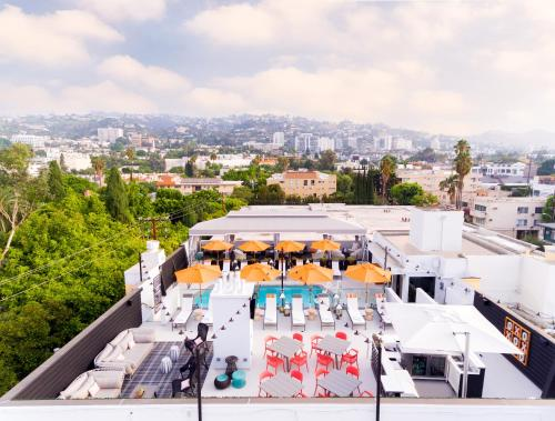 A bird's-eye view of Le Parc Suite Hotel