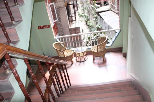 A balcony or terrace at Mount Annapurna Guest House