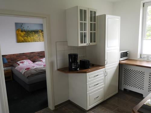 Küche/Küchenzeile in der Unterkunft Sonnenhof