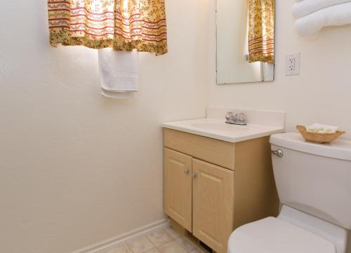A bathroom at All View Motel