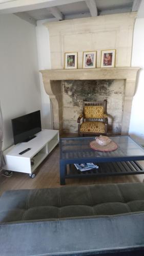 A seating area at Hameau de Salvy