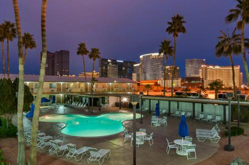 A view of the pool at Days Inn by Wyndham Las Vegas Wild Wild West Gambling Hall or nearby