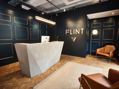 The lobby or reception area at The Flint